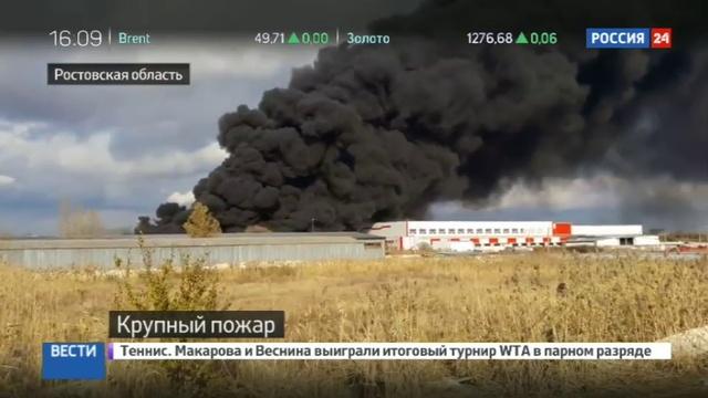 Новости на Россия 24 Под Ростовом пожар поглотил тысячу квадратных метров