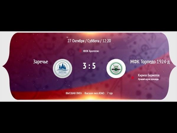 НМФЛ 2018-19. Высшая лига ЮАО. (1-тайм) МФК Заречье - МФК Торпедо 3:5