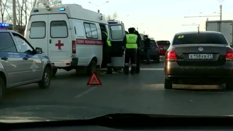ДТП с участием скорой Чебоксары на Марпосадском шоссе