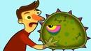 Суровый ЛИЗУН ГЛАЗАСТИК съедает все вокруг! Игра Tales from Space Mutant Blobs Attack с ПАПУЛЕЙ