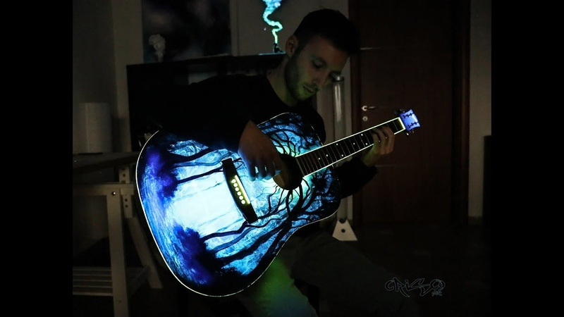 Crisco Art Makes a glowing Guitar