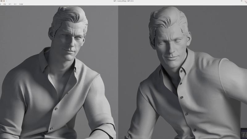 1.Making David Gandy Likeness_Marvelous designer