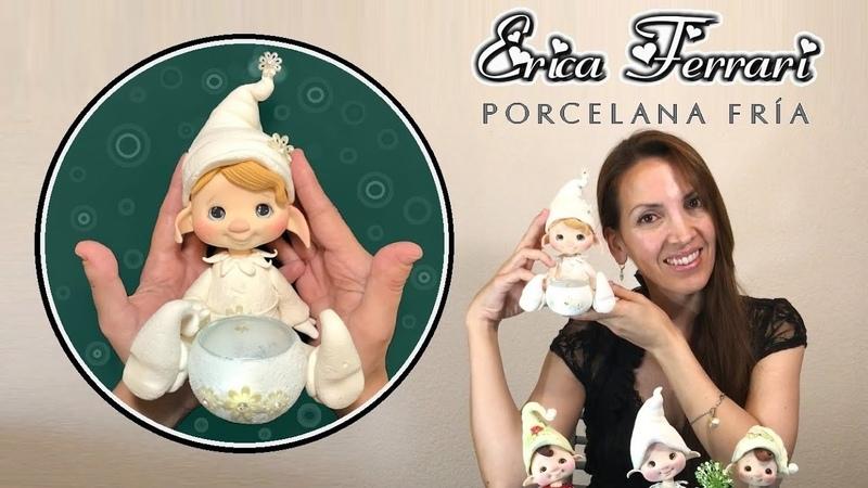 🐶 Erica Ferrari Porcelana Fría Duende Luminaria Clase Gratis DIY Tutorial Fácil