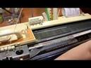 Частичное вязание на однофонтурном прессовом полотне по перфокарте