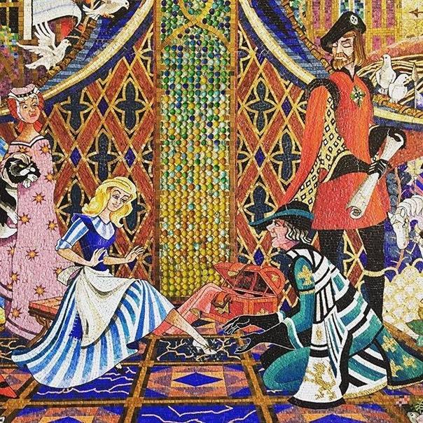 Мозаика «Золушка» во Всемирном центре отдыха Уолта Диснея