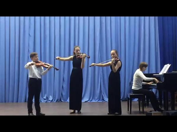 124422 Образцовый Ансамбль скрипачей Каприс Трио г Вихоревка Попурри Танец