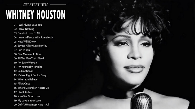 Whitney Houston Greatest Hits 2018 Best Songs Of Whitney Houston