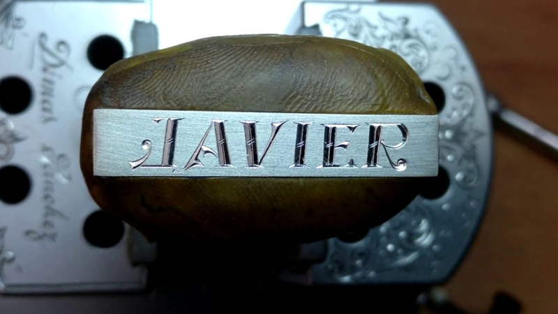 Grabado Pulsera Javier.