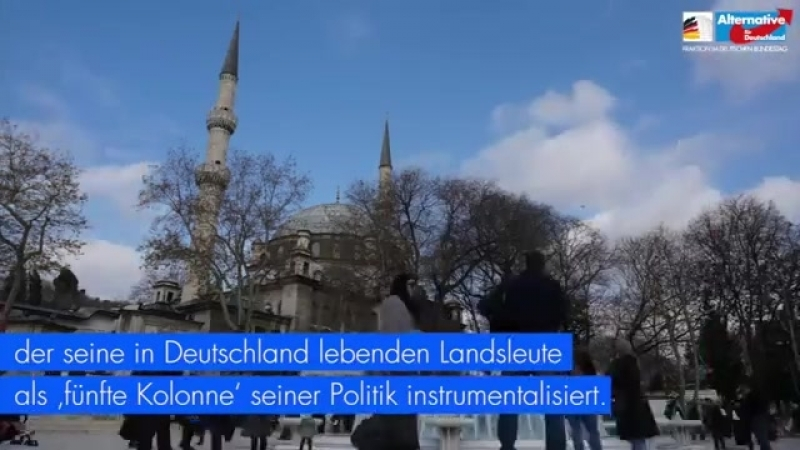 über Erdogans -Trojanisches Pferd- Ditib - AfD Fraktion im Bundestag