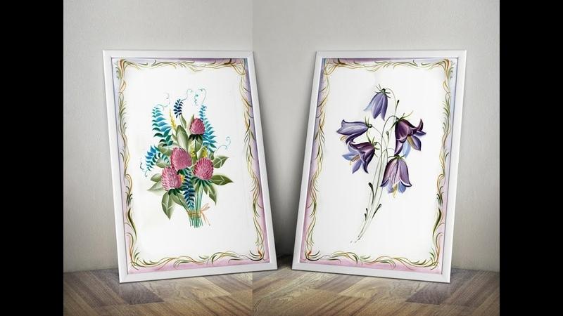 Вебинар Полевые цветы Свободно кистевая техника