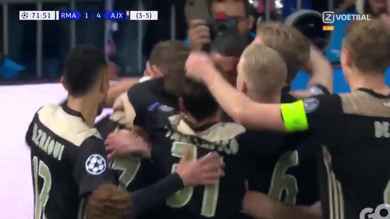 Lasse Schone Free Kick Goal vs Real Madrid 5th Mar 2019