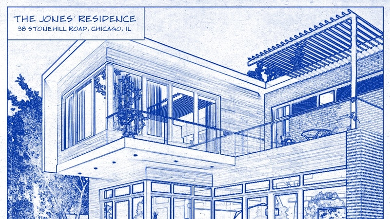 Photoshop CC Tutorial How to Transform a Photo into an Architects Blueprint Drawings