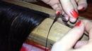 Como coser a mano una cortina de pelo natural