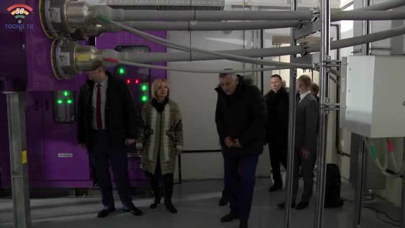 Губернатор Ленобласти А.Дрозденко открыл новые очистные сооружения и электроподстанцию в Федоровском