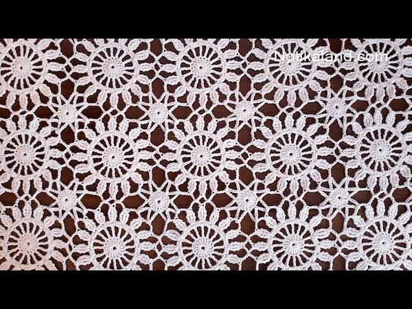 Crochet easy Motif for shawl Part 2 How to join motifs