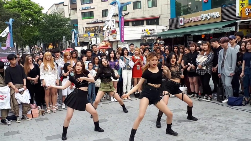 TXT 'CROWN' BLACKPINK 'KILL THIS LOVE' COVER . BUSKING TEAM:D.K CREW. WHAT A CAPTIVATING CHOREO.