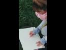 Эскизы маслянной пастелью у Муринского парка
