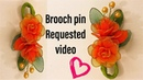 Brooch pin with nylon stocking How to (Req video)