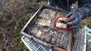 Стоит нырнуть в болото и сразу Винтовки ящики с патронами поиск на металлоискатель и магнит