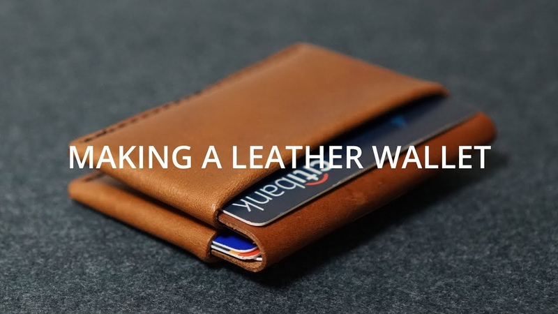 Making a Simple Leather Wallet DIY Leather craft
