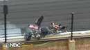 Chris Windom goes for a ride during Indy Lights crash | Motorsports on NBC