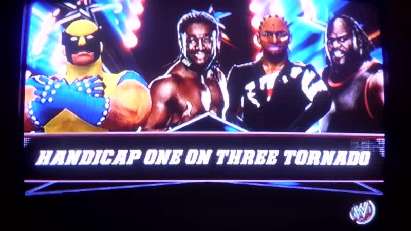 WWE2K14 Wolverine vs Barak Obama,Kofi Kingston,Mark Henry.Tornado Handicap.Росомаха против ниггеров.11DeadFace