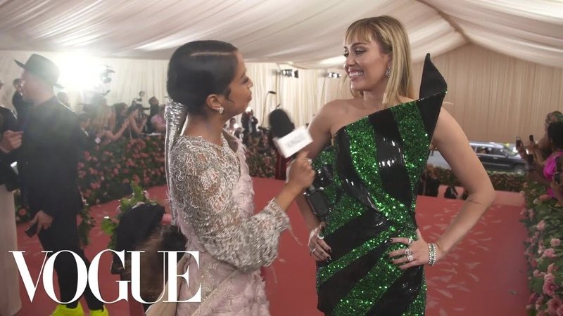 Miley Cyrus on Taking Liam Hemsworth to His First Met Gala | Met Gala 2019 With Liza Koshy | Vogue