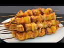 Мягкий Куриный Шашлык в Духовке (ингредиенты под видео)