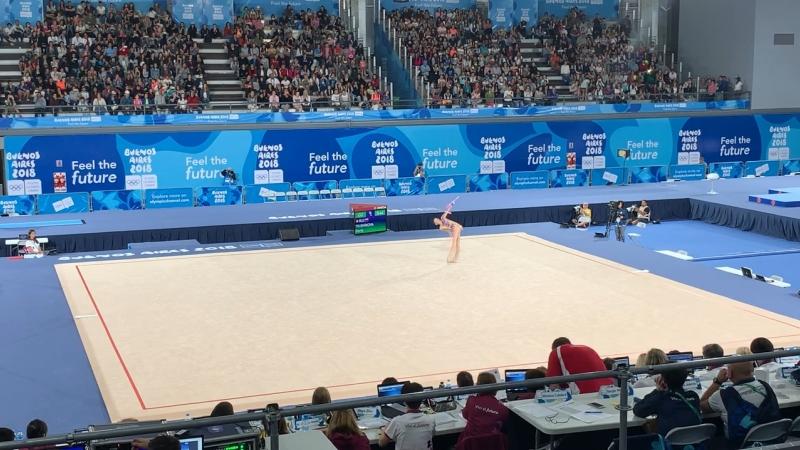 Дарья Трубникова, упражнения с булавами. Художественная гимнастика, многоборье. БуэносАйрес2018