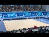 Дарья Трубникова, упражнения с булавами. Художественная гимнастика, многоборье. #БуэносАйрес2018