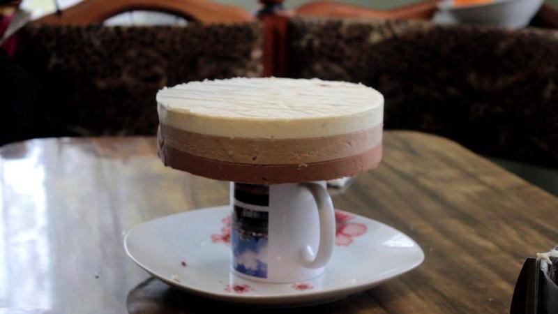 Муссовый торт Три шоколада Поливаем глазурью/Galaxy Cake/
