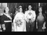 Свадьба герцогини Кармен де Франко и маркиза де Вильяверде Кристобаля Мартинеса-Бордью, 10 апреля 1950 г.