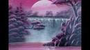 Spray paint art - Pink Niagara falls - made by street artist time lapse