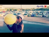 MacVille - Yellow Psychedelic Balloon - Blowing and Popping a Balloon at the Car Yard ft.