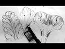 Как рисовать лист аканта. How to draw acanthus leaf