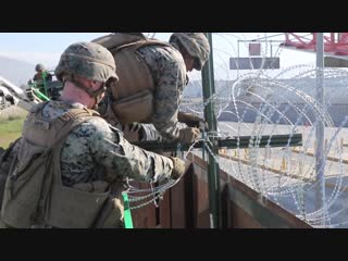 U.S. Marines Strengthen the California-Mexico Border at the Otay Mesa Port of Entry SAN DIEGO