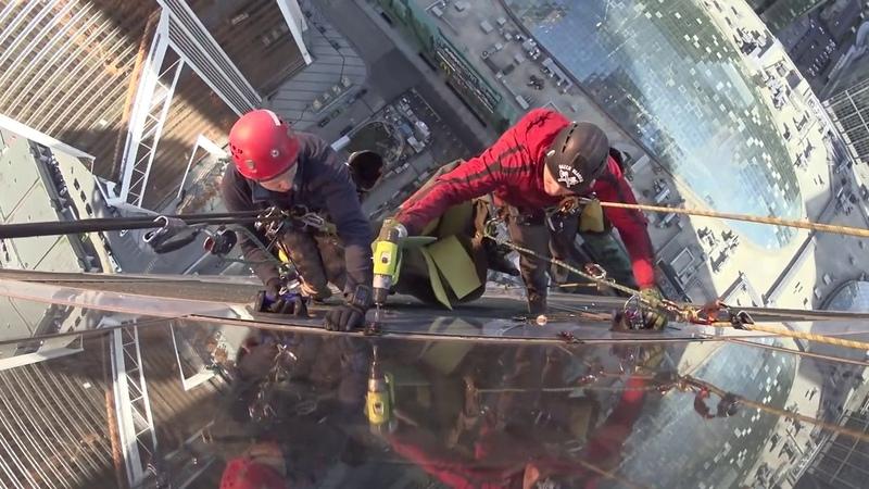 Промышленный альпинизм Москва Сити Замена стемалитов 1