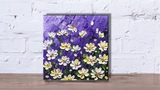 Paint wildflowers with impasto using Heavy body acrylic Part 3