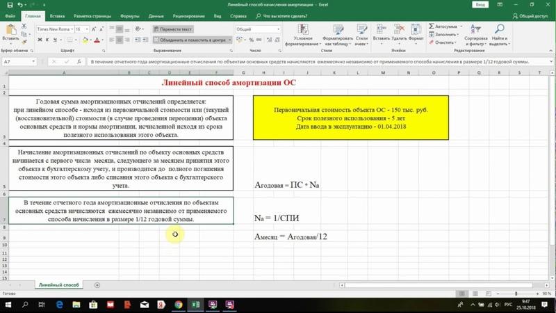 Амортизация ОС линейным способом   Пример расчета   Бухучет   Бухгалтерский учет