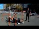 Мастер-класс на площадке воркаут в Рубцовске