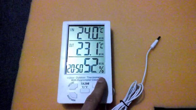 Обзор Digital Thermometer Hygrometer Indoor-Outdoor
