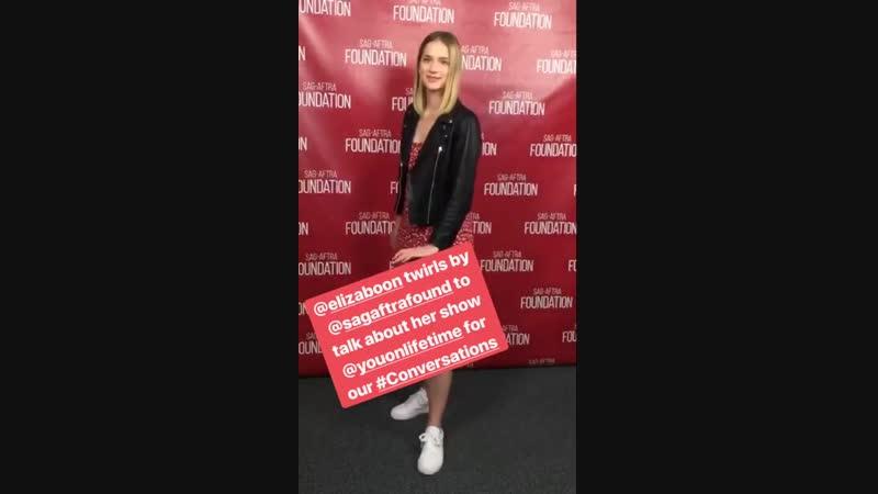 Elizabeth Lail @ SAG-AFTRA Foundation Instagram stories, 11_10_18