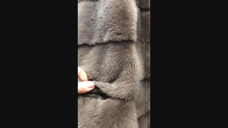 Цветная скандинавская норка 90см Стойка 750$ Капюшон 800$