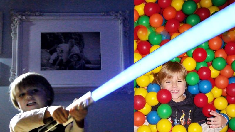 Indoor Playground Fun - Star Wars Force FX Lightsaber Blue