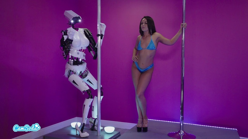 Sex Robot Vs Human Stripper Real World Contest From Live Broadcast