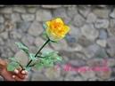 Бокаловидная роза из бисера. Часть 1 Листья. Мастер-класс