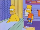 Bart hits Homer with a chair but it's Toto Africa