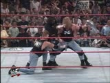 The Rock, DLo Brown, The Godfather and Mark Henry Vs Triple H, Road Dogg, X-Pac and Billy Gunn - Street Fight - RAW 17.08.1998