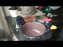 Cocá ou Galinha da Angola de cimento passo a passo