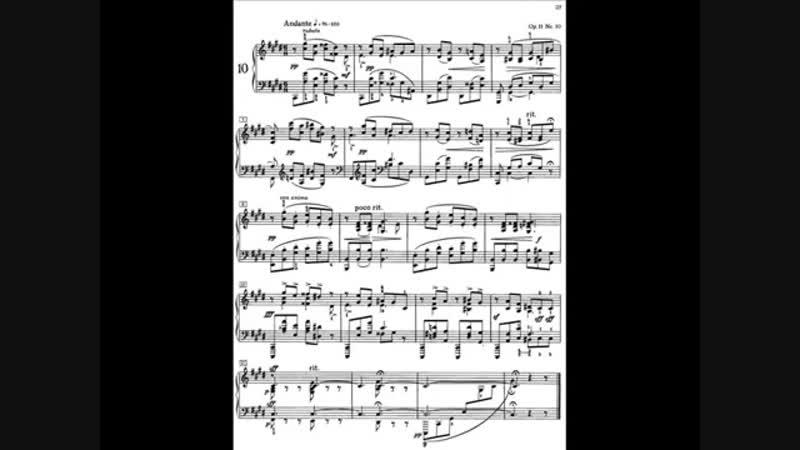 Scriabin 24 Preludes Op.11 - No.10 in C sharp minor